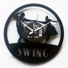 Disc'O'Clock Designové nástěnné hodiny Discoclock 063 Swing 30cm