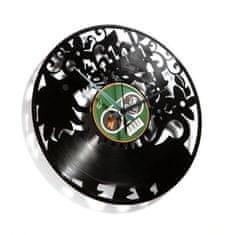 Disc'O'Clock Designové nástěnné hodiny Discoclock 009 Think green 30cm
