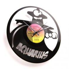 Disc'O'Clock Designové nástěnné hodiny Discoclock Z11 Vodnář 30cm