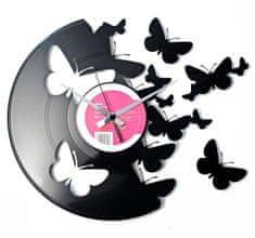 Disc'O'Clock Designové nástěnné hodiny Discoclock 056 Motýli 30cm