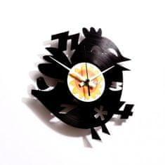 Disc'O'Clock Designové nástěnné hodiny Discoclock 012 Twitter's dumb brother 30cm