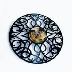 Disc'O'Clock Designové nástěnné hodiny Discoclock 011 Deco 30cm