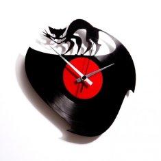 Disc'O'Clock Designové nástěnné hodiny Discoclock 003 Curiosity killed the cat 30cm