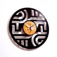Disc'O'Clock Designové nástěnné hodiny Discoclock 015 Geometry 30cm