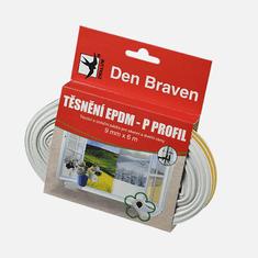 Den Braven Těsnicí profil z EPDM pryže, D profil, 9 mm x 6 mm x 6 m, bílý