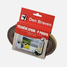 Den Braven Těsnicí profil z EPDM pryže, D profil, 9 mm x 6 mm x 6 m, hnědý