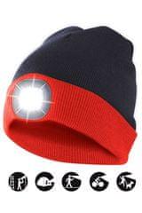 Velamp čiapka CAP15 s LED svetlom červeno-čierna