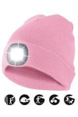 Velamp čiapka CAP11 s LED svetlom ružová