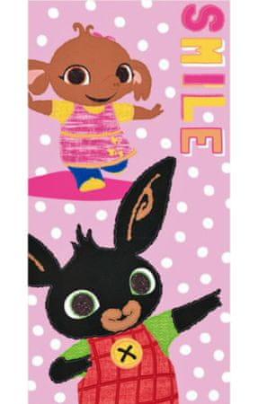 """SETINO Gyermek törölköző """"Bing"""" - rózsaszín - 70 x 140 cm"""