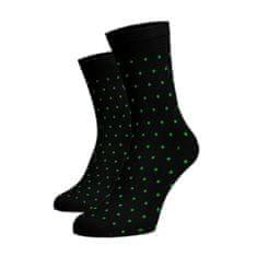 BENAMI Vysoké puntíkované ponožky - zelený Černá Bavlna 35-38