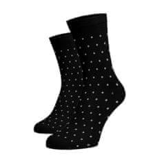 BENAMI Vysoké puntíkované ponožky - bílý Černá Bavlna 35-38