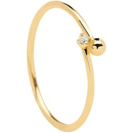 PDPAOLA Aranyozott minimalista ezüst gyűrű ESSENTIA Gold AN01-130 (Kerület 56 mm) ezüst 925/1000