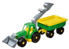 Androni Traktorový nakladač s vlekem Power Worker, zelený