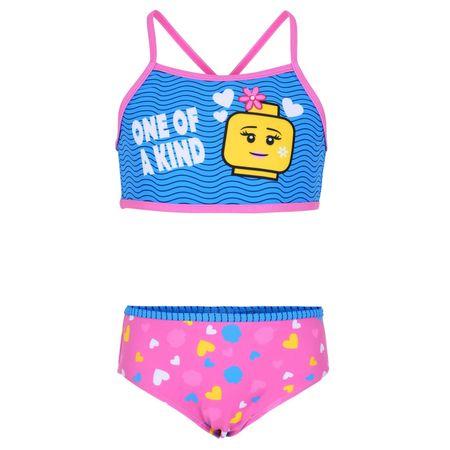 LEGO Wear lány kétrészes fürdőruha LW-12010086, 134, rózsaszín
