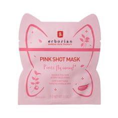 Erborian Pleťová maska na rozšířené póry Pink Shot Mask (Care Sheet Mask) 5 g