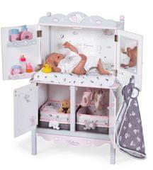 DeCuevas 54835 Drevená šatníková skriňa pre bábiky s hracím centrom a doplnkami SKY 2020