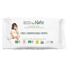ECO by Naty Vlhčené ubrousky Naty bez vůně - pro citlivou pokožku (56 ks)