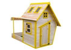 Marimex Domeček dětský dřevěný s pískovištěm Flinky