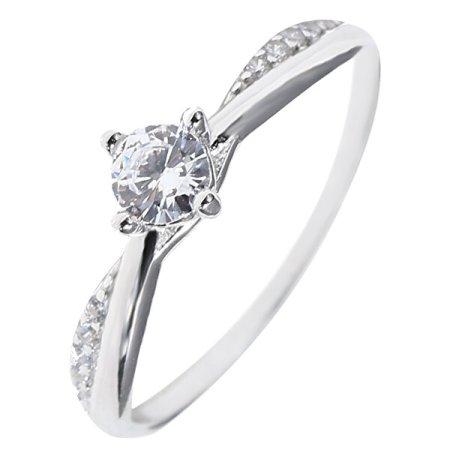 JVD Bájos ezüst gyűrű színtiszta cirkónium kövekkel SVLR0306XH2BI (Kerület 54 mm) ezüst 925/1000