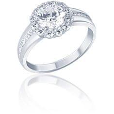 JVD BłyszcząceSrebrny pierścionek z cyrkoniami SVLR0321XF3BI srebro 925/1000