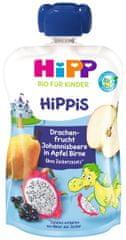 HiPP BIO Hippis Jablko - Hruška - Dračí ovoce - Černý rybíz 6 x 100g