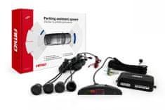 AMIO Parkirni senzorji 4 kos z LCD zaslonom in zvočnim signalom črni