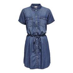Jacqueline de Yong Dámské šaty JDYBELLA LIFE 15231238 Medium Blue Denim