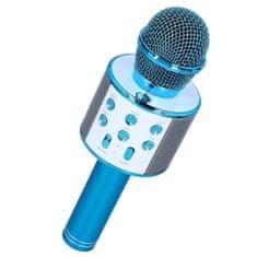 MG Bluetooth Karaoke mikrofon hangszóróval, kék