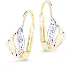 Cutie Diamonds Luxusné bicolor náušnice zo zlata s briliantmi DZ8024-55-00-X-1