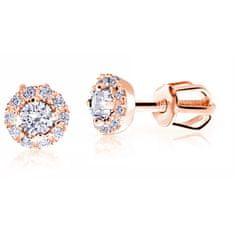 Cutie Jewellery Delikatne kamienieKolczyki różowego złota Z9002-3100-30-10-X-4