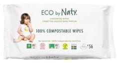 ECO by Naty ECO Vlhčené obrúsky bez vône - pre citlivú pokožku (3x56 ks)