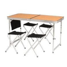 Easy Camp Belfort stol za kampiranje, bambus + stolice za kampiranje, 4 komada