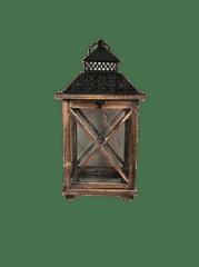 Netuctovky Obdelníková lucerna- hnědé dřevo