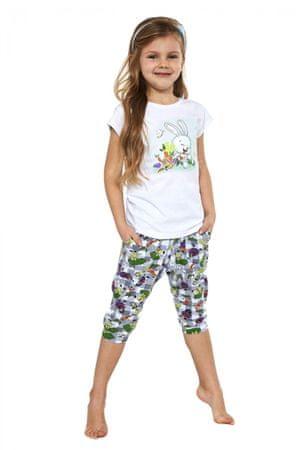 Cornette Lány pizsama 487/84, fehér, 98/104