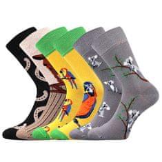 Lonka Veselé dámské crazy ponožky Doble mix H 3 páry v sadě.