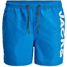 Jack&Jones Moške plavalne kratke hlače JJIBALI 12183806 French Blue