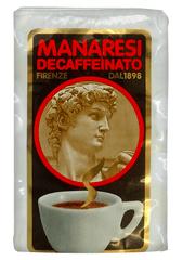 Manaresi bezkofeinová mletá káva