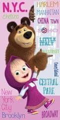 Jerry Fabrics Maša i Medvjed Gradovi ručnik za kupanje