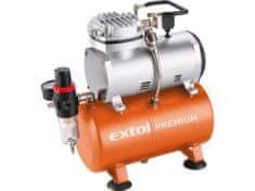 Extol Premium Kompresor bezolejový, príkon 150W