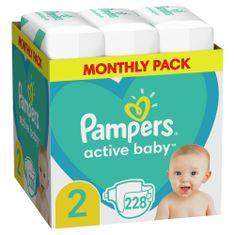 Pampers Active Baby Plienky Veľkosť 2, 228 ks, 4-8 kg