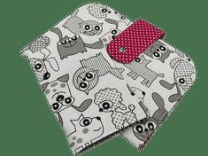 Šišipu Sada plenkovníku a obalu na očkovací průkaz Zvířátka s ružovou