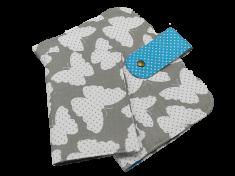 Šišipu Sada plenkovníku a obalu na očkovací průkaz Motýlci s modrou