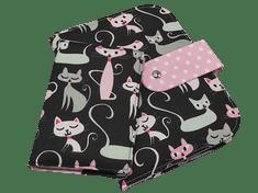 Šišipu Sada plenkovníku a obalu na očkovací průkaz Černé kočky