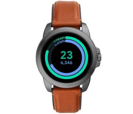 Chytré hodinky Fossil FTW4055 Gen 5E Smartwatch digitální zobrazení času certifikace voděodolnost 3 ATM notifikace z telefonu zvedání hovorů měření tepu krokoměr sledování fyzické aktivity Android iOS dlouhá výdrž baterie smartwatch Wear OS Google Fit AMOLED displej Gorilla Glass monitoring spánku přehled sportovních aktivit