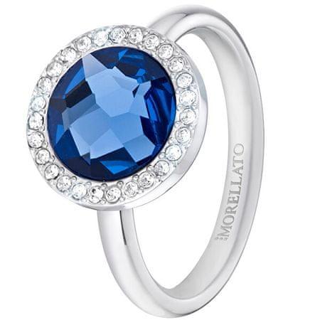 Morellato Essenza kék kristállyal díszített nemesacél gyűrű SAGX15 (Kerület 56 mm)