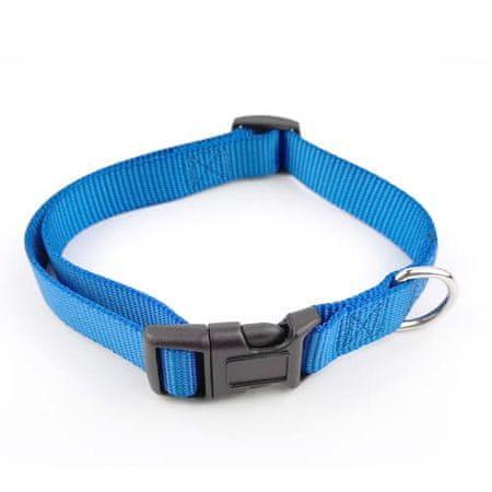 COBBYS PET Állítható textil kutya nyakörv 1,5x30-45cm kék