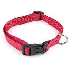 COBBYS PET Állítható reflex textil nyakörv 1,5x30-45cm piros