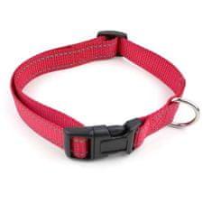 COBBYS PET Állítható reflex textil nyakörv 1,0x20-31cm piros