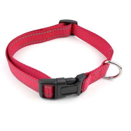COBBYS PET Állítható reflex textil nyakörv 2,5x40-55cm piros
