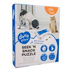 Duvo+ Műanyag fejtörő kutyáknak és mcskáknak - csont 24,5x20x4,5cm